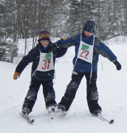 Skiers Using Devils Track Nordic Ski Shop Equipment